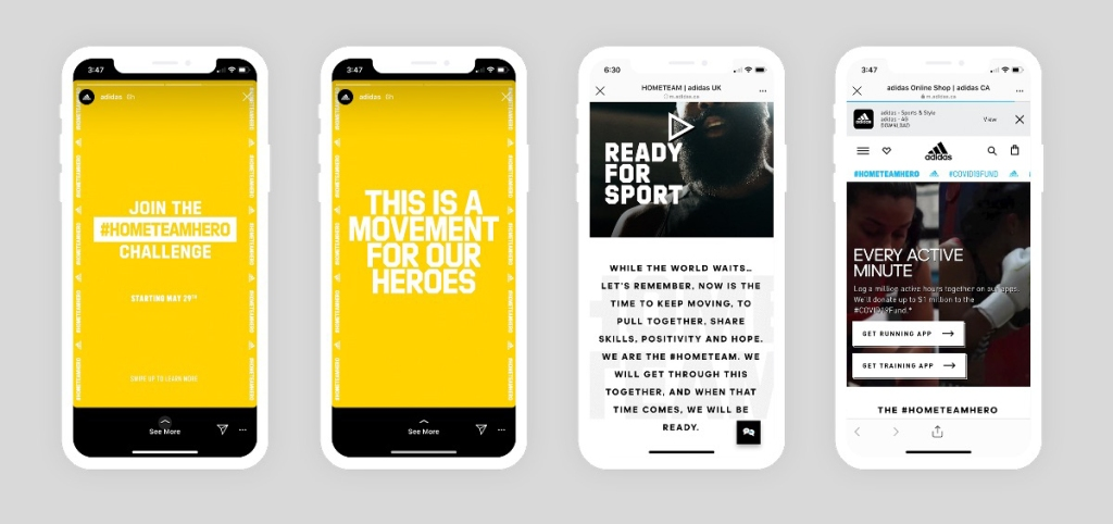 Adidas encourages off-line activity on Instagram