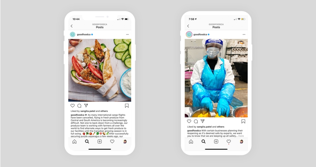Goodfood builds trust with transparency on Instagram